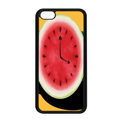 Watermelon Slice Red Orange Green Black Fruite Time Apple Iphone 5c Seamless Case (black) by Mariart