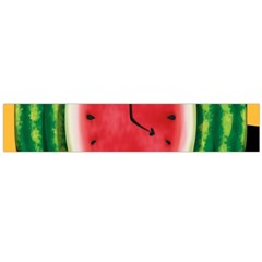 Watermelon Slice Red Orange Green Black Fruite Time Flano Scarf (large) by Mariart