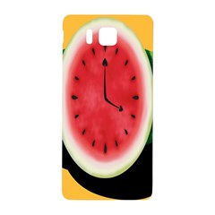 Watermelon Slice Red Orange Green Black Fruite Time Samsung Galaxy Alpha Hardshell Back Case by Mariart