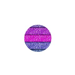 Violet Girly Glitter Pink Blue 1  Mini Buttons by Mariart