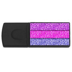 Violet Girly Glitter Pink Blue Usb Flash Drive Rectangular (4 Gb) by Mariart