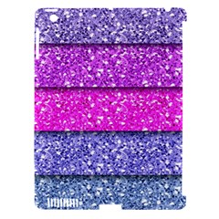 Violet Girly Glitter Pink Blue Apple Ipad 3/4 Hardshell Case (compatible With Smart Cover) by Mariart
