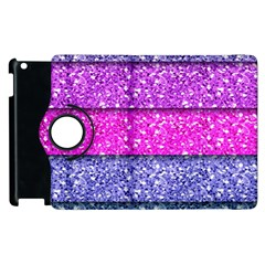 Violet Girly Glitter Pink Blue Apple Ipad 2 Flip 360 Case by Mariart