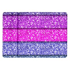 Violet Girly Glitter Pink Blue Samsung Galaxy Tab 10 1  P7500 Flip Case by Mariart