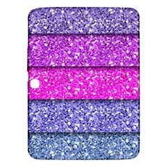 Violet Girly Glitter Pink Blue Samsung Galaxy Tab 3 (10 1 ) P5200 Hardshell Case  by Mariart
