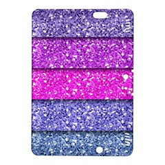 Violet Girly Glitter Pink Blue Kindle Fire Hdx 8 9  Hardshell Case by Mariart