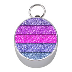 Violet Girly Glitter Pink Blue Mini Silver Compasses by Mariart
