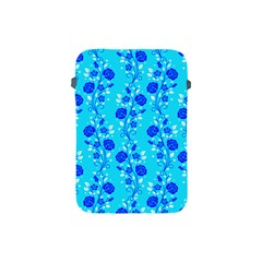 Vertical Floral Rose Flower Blue Apple Ipad Mini Protective Soft Cases by Mariart