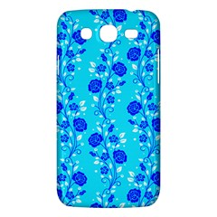 Vertical Floral Rose Flower Blue Samsung Galaxy Mega 5 8 I9152 Hardshell Case  by Mariart