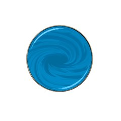 Whirlpool Hole Wave Blue Waves Sea Hat Clip Ball Marker (4 Pack) by Mariart