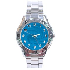 Whirlpool Hole Wave Blue Waves Sea Stainless Steel Analogue Watch by Mariart