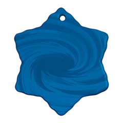 Whirlpool Hole Wave Blue Waves Sea Snowflake Ornament (two Sides) by Mariart
