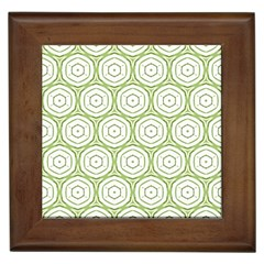 Wood Star Green Circle Framed Tiles by Mariart