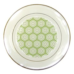 Wood Star Green Circle Porcelain Plates by Mariart