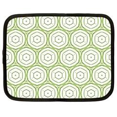 Wood Star Green Circle Netbook Case (large)