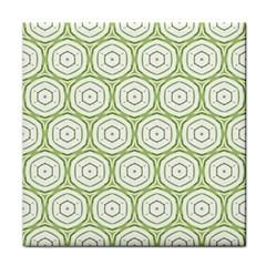 Wood Star Green Circle Face Towel by Mariart