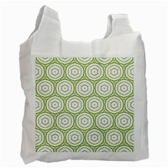 Wood Star Green Circle Recycle Bag (one Side) by Mariart