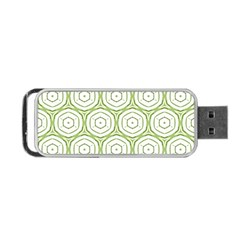 Wood Star Green Circle Portable Usb Flash (two Sides) by Mariart