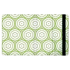 Wood Star Green Circle Apple Ipad 3/4 Flip Case by Mariart