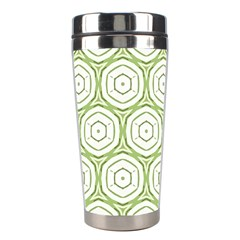 Wood Star Green Circle Stainless Steel Travel Tumblers by Mariart