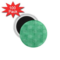 Polka Dot Scrapbook Paper Digital Green 1 75  Magnets (100 Pack)  by Mariart