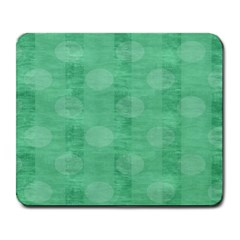 Polka Dot Scrapbook Paper Digital Green Large Mousepads by Mariart