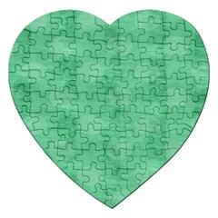 Polka Dot Scrapbook Paper Digital Green Jigsaw Puzzle (heart) by Mariart