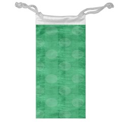Polka Dot Scrapbook Paper Digital Green Jewelry Bag by Mariart
