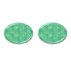 Polka Dot Scrapbook Paper Digital Green Cufflinks (oval) by Mariart