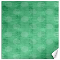 Polka Dot Scrapbook Paper Digital Green Canvas 16  X 16   by Mariart
