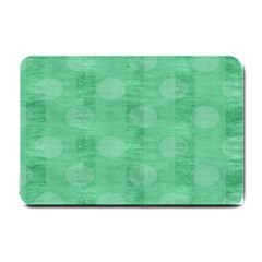 Polka Dot Scrapbook Paper Digital Green Small Doormat  by Mariart
