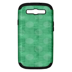 Polka Dot Scrapbook Paper Digital Green Samsung Galaxy S Iii Hardshell Case (pc+silicone) by Mariart