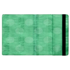 Polka Dot Scrapbook Paper Digital Green Apple Ipad 2 Flip Case by Mariart