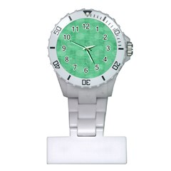 Polka Dot Scrapbook Paper Digital Green Plastic Nurses Watch by Mariart