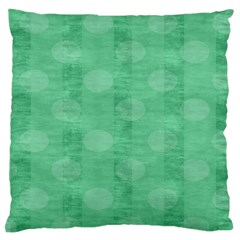 Polka Dot Scrapbook Paper Digital Green Standard Flano Cushion Case (two Sides) by Mariart
