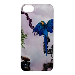Wonderful Blue Parrot In A Fantasy World Apple Iphone 5s/ Se Hardshell Case by FantasyWorld7