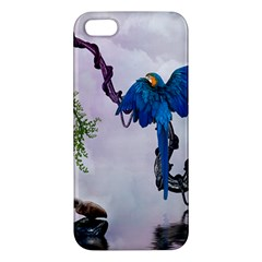 Wonderful Blue Parrot In A Fantasy World Iphone 5s/ Se Premium Hardshell Case