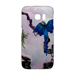 Wonderful Blue Parrot In A Fantasy World Galaxy S6 Edge by FantasyWorld7