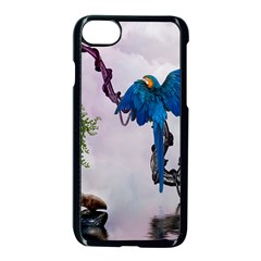 Wonderful Blue Parrot In A Fantasy World Apple Iphone 7 Seamless Case (black) by FantasyWorld7