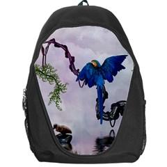 Wonderful Blue Parrot In A Fantasy World Backpack Bag by FantasyWorld7