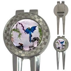 Wonderful Blue Parrot In A Fantasy World 3 In 1 Golf Divots by FantasyWorld7