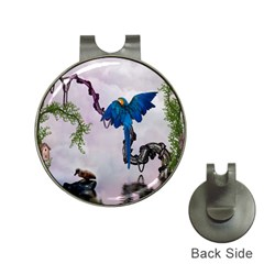 Wonderful Blue Parrot In A Fantasy World Hat Clips With Golf Markers by FantasyWorld7