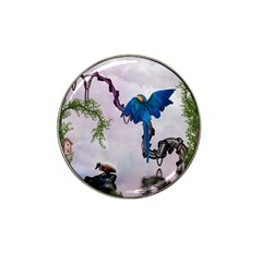 Wonderful Blue Parrot In A Fantasy World Hat Clip Ball Marker (4 Pack) by FantasyWorld7