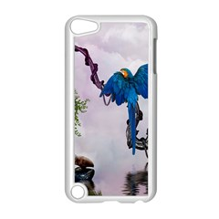 Wonderful Blue Parrot In A Fantasy World Apple Ipod Touch 5 Case (white) by FantasyWorld7