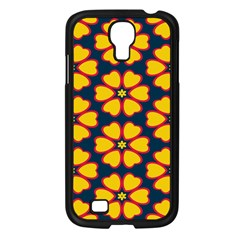 Yellow Flowers Pattern        			samsung Galaxy S4 I9500/ I9505 Case (black)