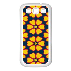 Yellow Flowers Pattern        samsung Galaxy S3 Back Case (white) by LalyLauraFLM