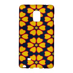 Yellow Flowers Pattern        			samsung Galaxy Note Edge Hardshell Case by LalyLauraFLM