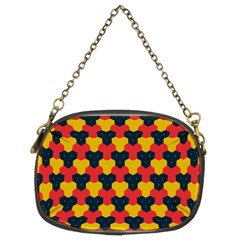 Red Blue Yellow Shapes Pattern        chain Purse (two Sides) by LalyLauraFLM