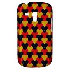 Red Blue Yellow Shapes Pattern       samsung Galaxy S3 Mini I8190 Hardshell Case by LalyLauraFLM