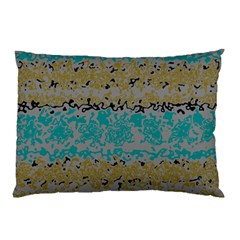 Blue brown waves       			Pillow Case by LalyLauraFLM